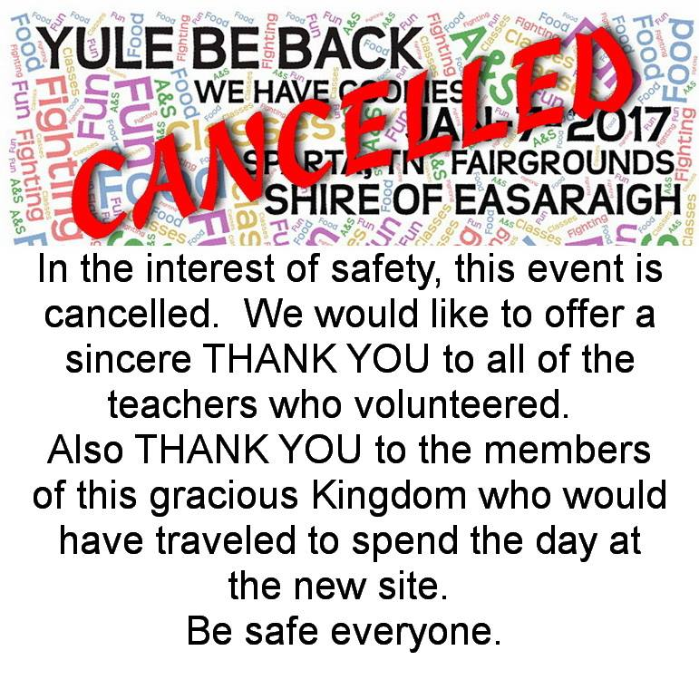 Yule Be Back Cancelled